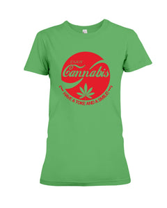 Enjoy Cannabis Have A Toke And A Smile Trending Ladies Tee