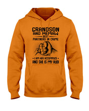 Load image into Gallery viewer, Grandson And Memaw Best Partners In Crime Gifts Hoodie