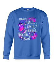 Load image into Gallery viewer, In Loving Memory Never Forgotten Forever Missed Butterflies Sweatshirt