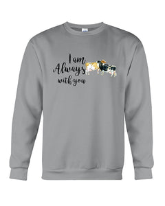Vintage Funny Cow Always With You Birthday Gift Sweatshirt