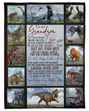 Load image into Gallery viewer, To My Grandson You Will Always Be My Baby Boy Gifts From Grandma Fleece Blanket