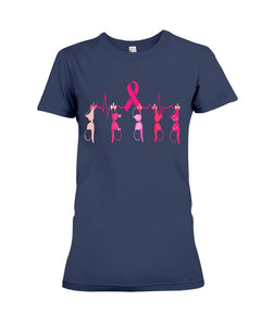 Breast Cancer Heartbeat Breast Cancer Awareness   Meaningful Gifts Ladies Tee