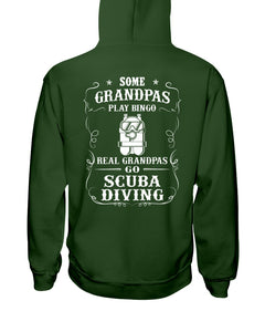 Some Grandpas Play Bingo  Real Grandpas Go Scuba Diving Trending Hoodie