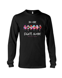 No One Fights Alone For Breast Cancer Awareness Unisex Long Sleeve