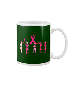 Breast Cancer Heartbeat Breast Cancer Awareness   Meaningful Gifts Mug