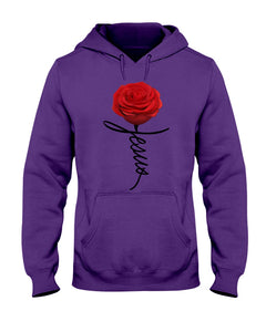 Jesus Rose Flower Special Simple Custom Design Hoodie