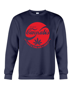 Enjoy Cannabis Have A Toke And A Smile Trending Sweatshirt
