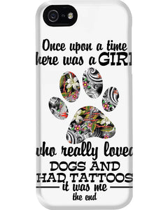 A Girl Loved Dogs And   Had Tattoos  Custom Design For Dog Lovers Phone case