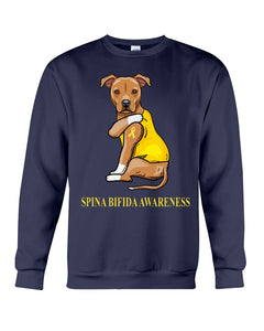 Spina Bifida Awareness Gift For Dog Lovers Custom Design Sweatshirt