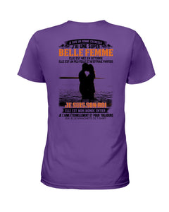 J'ai Une Super Belle Femme Elle Est Nee En  Octobre   Birthday Gifts Ladies Tee