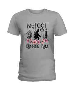 Bigfoot Running Team Custom Design Gift For Bigfoot Fans Ladies Tee