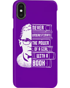 Never Underestimate A Power Girl With A Book Custom Design Phone case