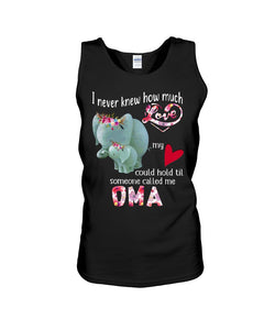 Elephants Someone Called Me Oma Funny Design Unisex Tank Top