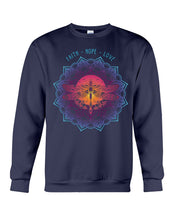 Load image into Gallery viewer, Market Trendz Faith Hope Love Dragonfly And Moon Birthday Gift Sweatshirt