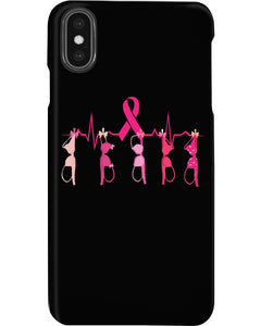 Breast Cancer Heartbeat Breast Cancer Awareness   Meaningful Gifts Phone case