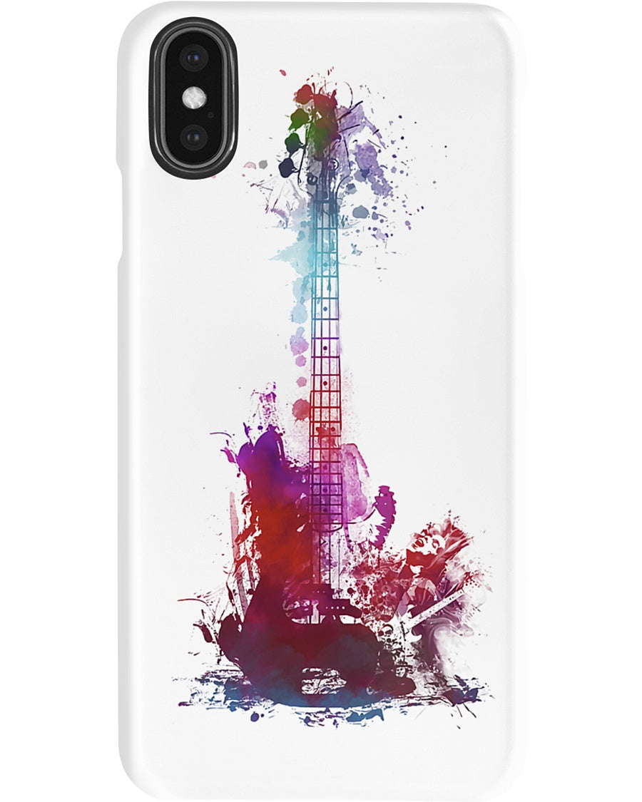 Colorful Guitar Art Best Gift For Bass Guitar Lovers Phone case