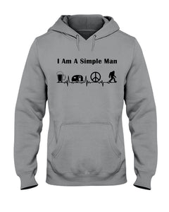 Simple Man Bigfoot Loving Camping Loving Peace Custom Design Hoodie