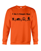 Load image into Gallery viewer, Simple Man Bigfoot Loving Camping Loving Peace Custom Design Sweatshirt