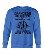 Load image into Gallery viewer, Grandson And Grandmy Best Partners In Crime - I Am Her Accomplice Sweatshirt