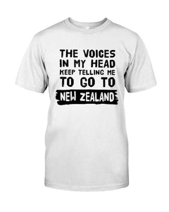 The Voices In My Head Keep Telling Me To Go To New Zealand Guys Tee