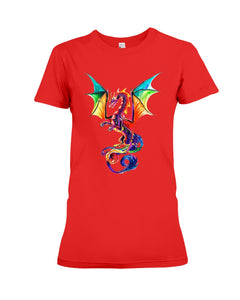 Lovely Tote Bag Colorful Dragon Birthday Gift Ladies Tee