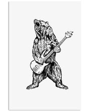 Load image into Gallery viewer, The Bear Play Guitar Funny Gift For Bass Guitar Lovers Vertical Poster