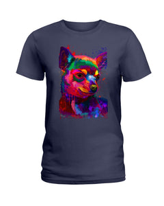 Chihuahua Watercolor Special   Custom Design For Dog Lovers Ladies Tee