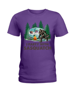 I Party Sasquatch Great Gift For Birthday Ladies Tee