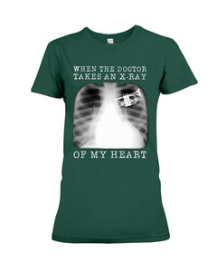 When The Doctor Takes An X-Ray Of My Heart For Trumpet Lovers Ladies Tee