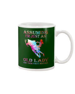 Assuming I'm Just An Old Lady Gift For Snowmobile Lovers Mug