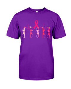 Breast Cancer Heartbeat Breast Cancer Awareness   Meaningful Gifts Guys Tee