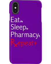 Load image into Gallery viewer, Eat Sleep Pharmacy Repeat Simple Unique Custom Design Phone case