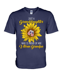 Just A Granddaughter Who Is Proud Of Her Vietnam Grandpa Gifts Guys V-Neck