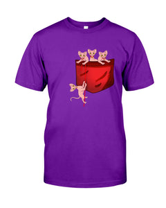 Lovely Sphynx  Pocket Gifts For Cat Lovers Guys Tee