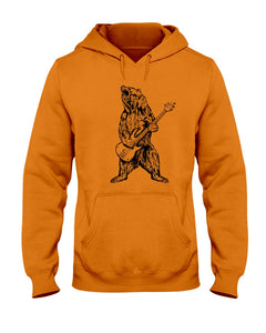 The Bear Play Guitar Funny Gift For Bass Guitar Lovers Hoodie