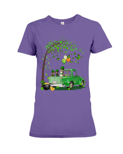 Pit Bull Shamrock Truck For St.Patrick's Day Gifts For Dog Lovers Ladies Tee