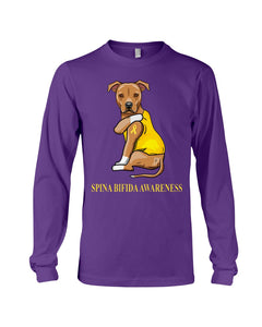 Spina Bifida Awareness Gift For Dog Lovers Custom Design Unisex Long Sleeve