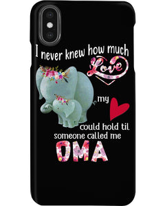 Elephants Someone Called Me Oma Funny Design Phone case
