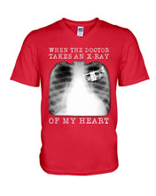 Load image into Gallery viewer, When The Doctor Takes An X-Ray Of My Heart For Trumpet Lovers Guys V-Neck