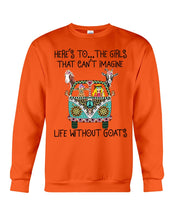 Load image into Gallery viewer, The Girl That Can't Imagine Life Without Goat Gifts For Goat Lovers Sweatshirt