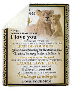 Laugh Love And Live Follow Your Dreams Great Gift From Mom To Daughter Sherpa Blanket