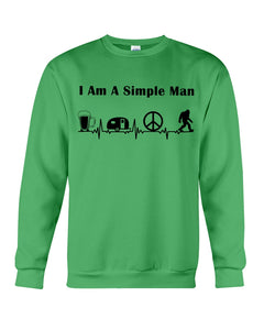 Simple Man Bigfoot Loving Camping Loving Peace Custom Design Sweatshirt