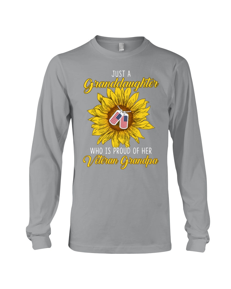 Just A Granddaughter Who Is Proud Of Her Vietnam Grandpa Gifts Unisex Long Sleeve