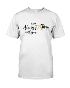 Vintage Funny Cow Always With You Birthday Gift Guys Tee