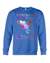 Load image into Gallery viewer, Assuming I'm Just An Old Lady Gift For Snowmobile Lovers Sweatshirt