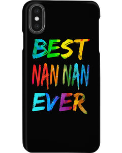 Best Nan Nan Ever Colorful Abstract Words Gifts Phone case