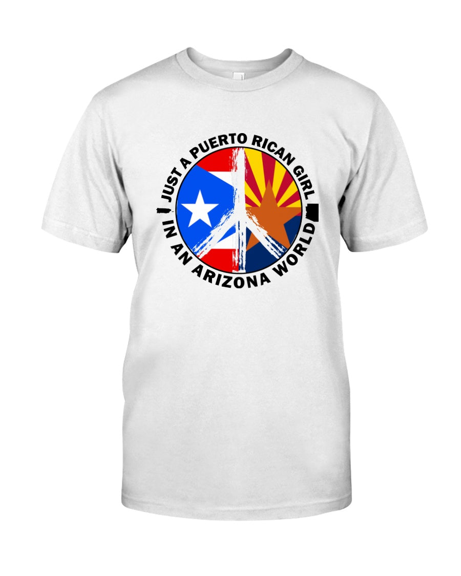 Just A Puerto Rico Girl In An Arizona   World Personalized Nation Gifts Guys Tee