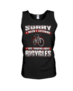 I'm Thinking About  Bicycles Custom Design Unisex Tank Top
