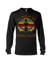 Load image into Gallery viewer, You Inspire My Inner Serial Killer- Yoga Skeleton Unisex Long Sleeve