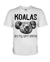 Load image into Gallery viewer, Koalas Are My Spirit Animal Gifts For Koala Lovers Guys V-Neck